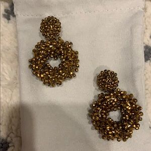 BaubleBar statement earrings gold beaded